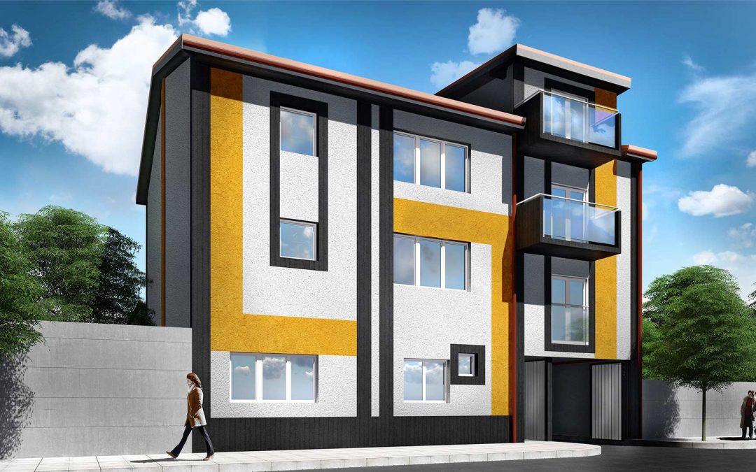 Redizajn fasade – Stambeni objekat P+3 – Ul. Graničarska